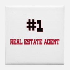 Number 1 REAL ESTATE AGENT Tile Coaster