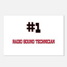Number 1 RADIO SOUND TECHNICIAN Postcards (Package