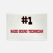 Number 1 RADIO SOUND TECHNICIAN Rectangle Magnet