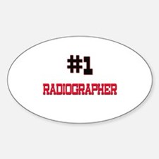 Number 1 RADIOGRAPHER Oval Decal