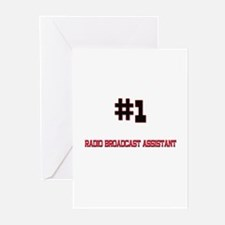 Number 1 RADIO BROADCAST ASSISTANT Greeting Cards