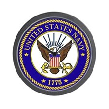 Navy League Logo No # Wall Clock