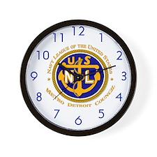 Navy League - Detroit Blue Logo Wall Clock