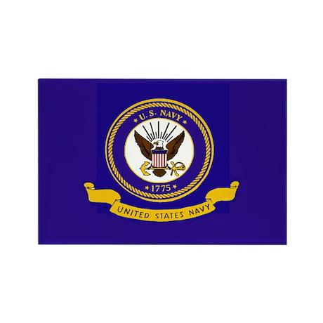 Navy Flag Rectangle Magnet (100