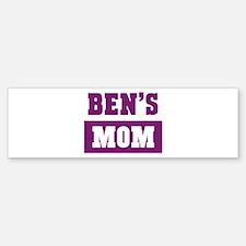 Bens Mom Bumper Bumper Bumper Sticker