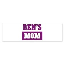 Bens Mom Bumper Bumper Sticker