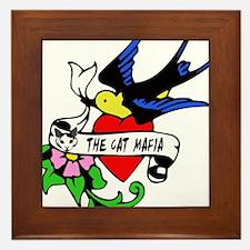 Cat Mafia Tattoo Framed Tile