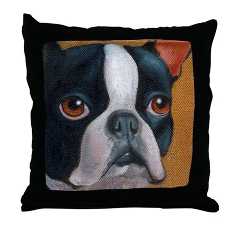 Boston Terrier Throw Pillow