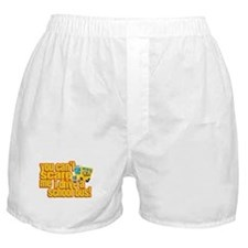 You Can't Scare Me - School Bus Boxer Shorts