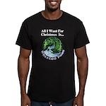 Christmas Peas Men's Fitted T-Shirt (dark)