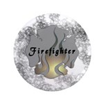 """Firefighter Tattoo 3.5"""" Button"""
