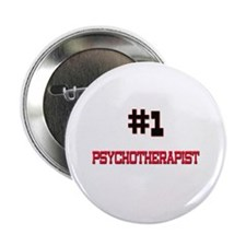 """Number 1 PSYCHOTHERAPIST 2.25"""" Button (10 pack)"""