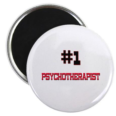 "Number 1 PSYCHOTHERAPIST 2.25"" Magnet (10 pack)"