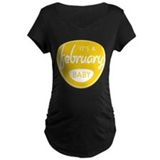 Yellow It's a February Baby T-Shirt