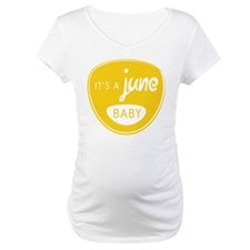 Yellow It's a June Baby Shirt