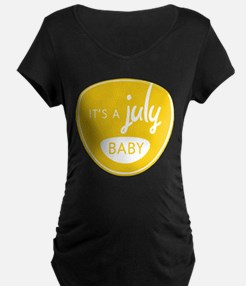 Yellow It's a July Baby T-Shirt