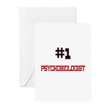 Number 1 PSYCHOBIOLOGIST Greeting Cards (Pk of 10)