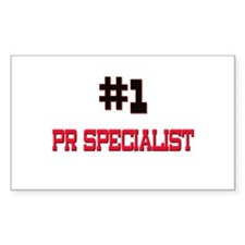 Number 1 PR SPECIALIST Rectangle Decal