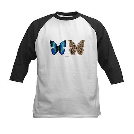 Tropical Morpho Butterfly Kids Baseball Jersey