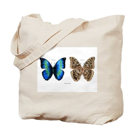 Tropical Morpho Butterfly Tote Bag