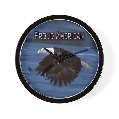 Wall Clock - Proud American Bald Eagle