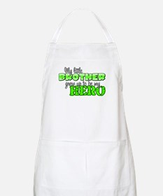 My little brother grew up to BBQ Apron