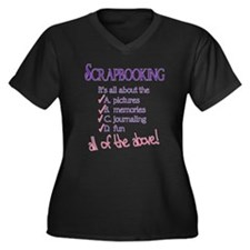 All of the Above Women's Plus Size V-Neck Dark T-S