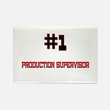 Number 1 PRODUCTION SUPERVISOR Rectangle Magnet