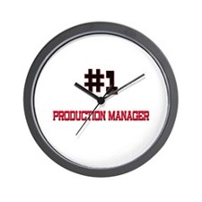 Number 1 PRODUCTION MANAGER Wall Clock