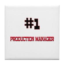 Number 1 PRODUCTION MANAGER Tile Coaster
