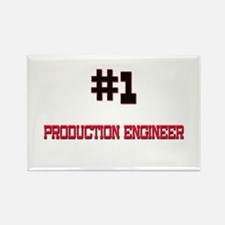 Number 1 PRODUCTION ENGINEER Rectangle Magnet