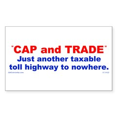 CAP and TRADE is just another Sticker (Rect. 50pk)