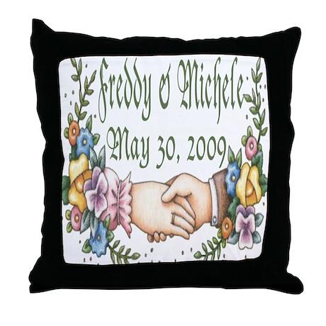 Freddy & Michele Throw Pillow