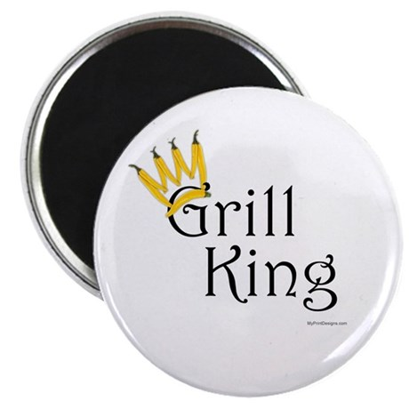 Grill King (yellow pepper crown) Magnet
