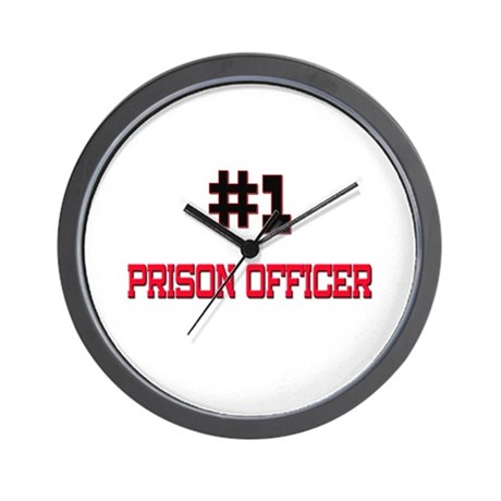 Number 1 PRISON OFFICER Wall Clock