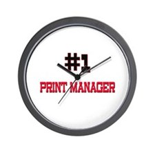 Number 1 PRINT MANAGER Wall Clock
