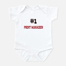 Number 1 PRINT MANAGER Infant Bodysuit