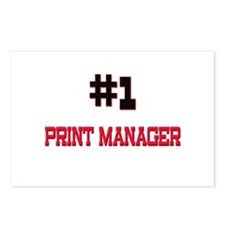 Number 1 PRINT MANAGER Postcards (Package of 8)