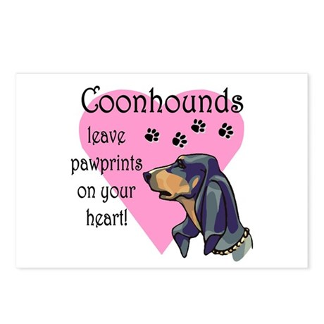 Coonhounds Pawprints Postcards (Package of 8)