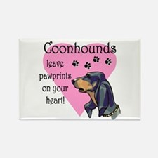 Coonhounds Pawprints Rectangle Magnet (10 pack)