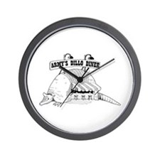 Army's Dillo Diner Wall Clock
