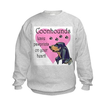 Coonhounds Pawprints Kids Sweatshirt