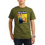 Vintage Rosie the Riveter Organic Men's T-Shirt (d
