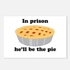 He'll be the pie Postcards (Package of 8)