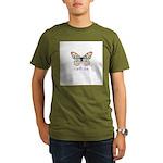 Earth Day - Butterfly Organic Men's T-Shirt (dark)