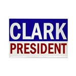 Wes Clark: President (10 Rectangle Magnets)