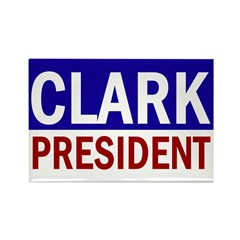 Clark for President (Rectangular Magnet)