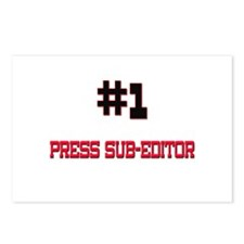 Number 1 PRESS SUB-EDITOR Postcards (Package of 8)