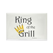 King of the Grill (pepper crown) Rectangle Magnet