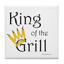 King of the Grill (pepper crown) Tile Coaster